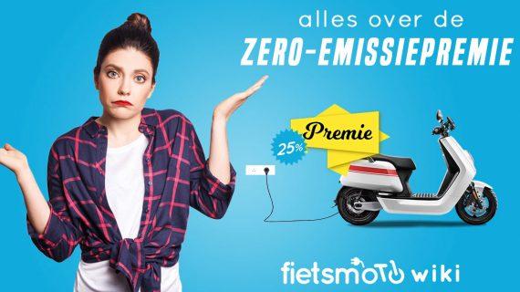 Zero emissie premie voor elektrische scooters en motorfietsen